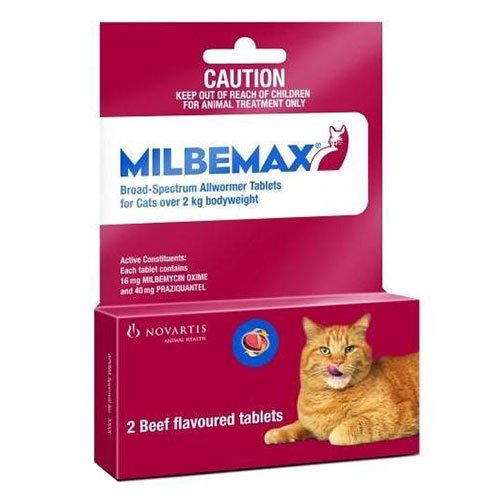 Milbemax  for Large Cats  more than 4.4-17.6lbs