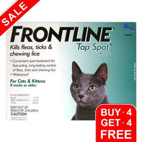 Frontline Top Spot Cats (Green)