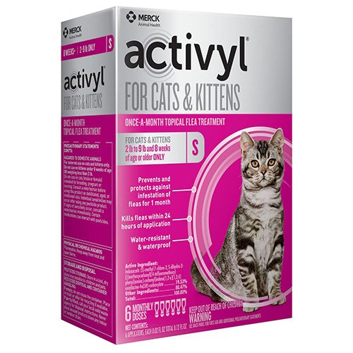 Activyl Flea Control Spot-On For Small Cats 2-9 lbs Orange