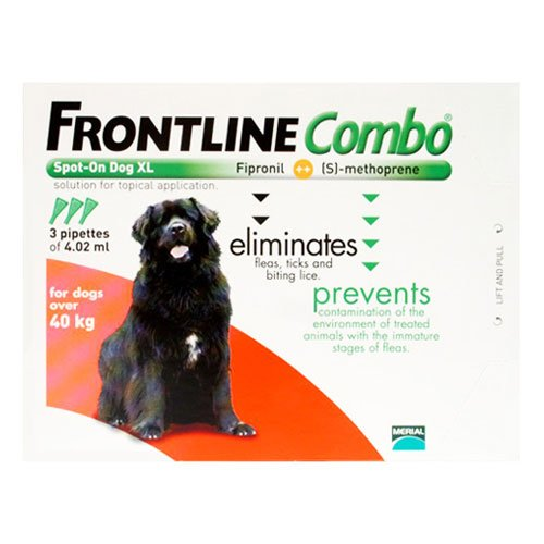 Frontline Plus (Known as Combo) for Extra Large Dogs over 89 lbs (Red)