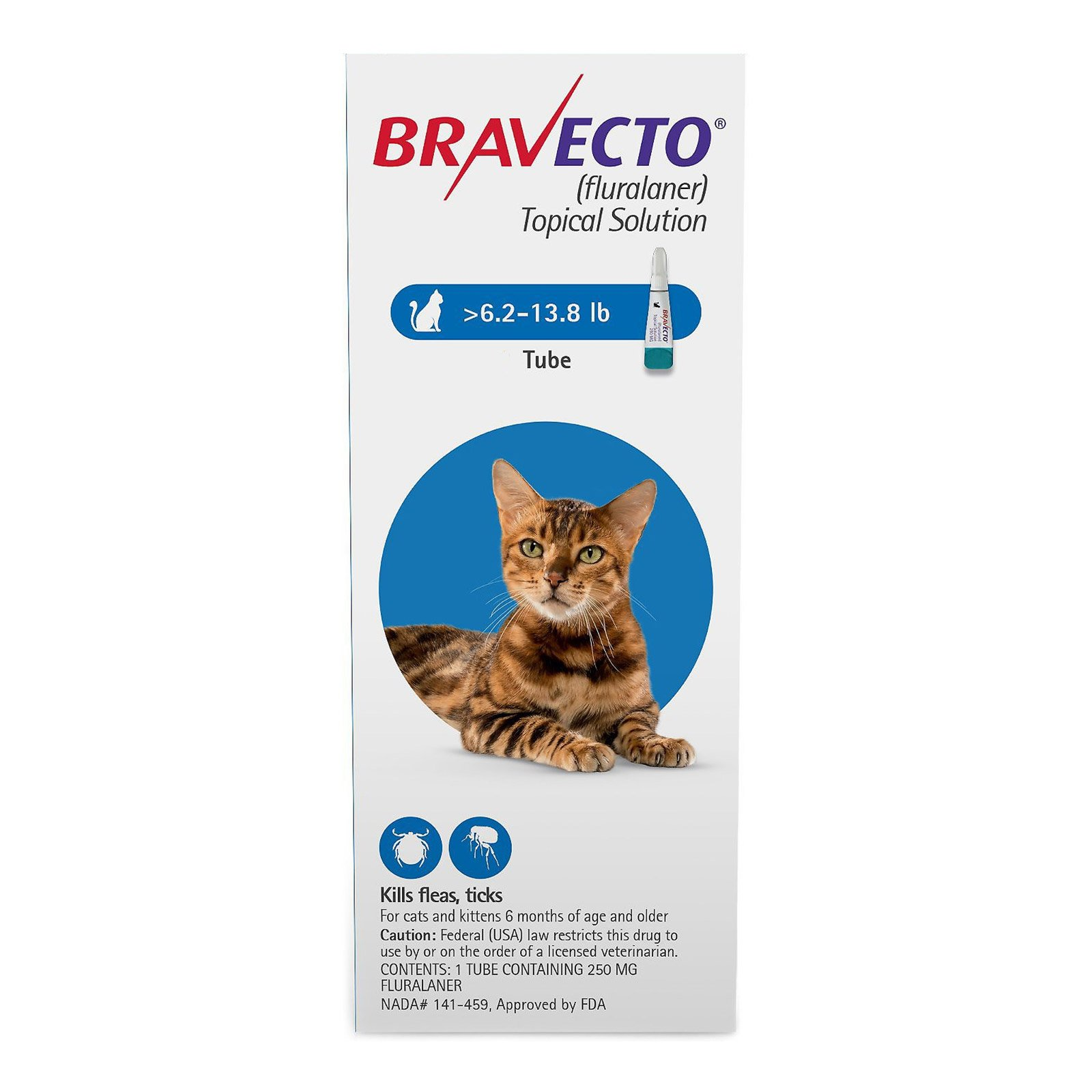 Bravecto Spot-On  for Medium Cats 6.2 lbs - 13.8 lbs