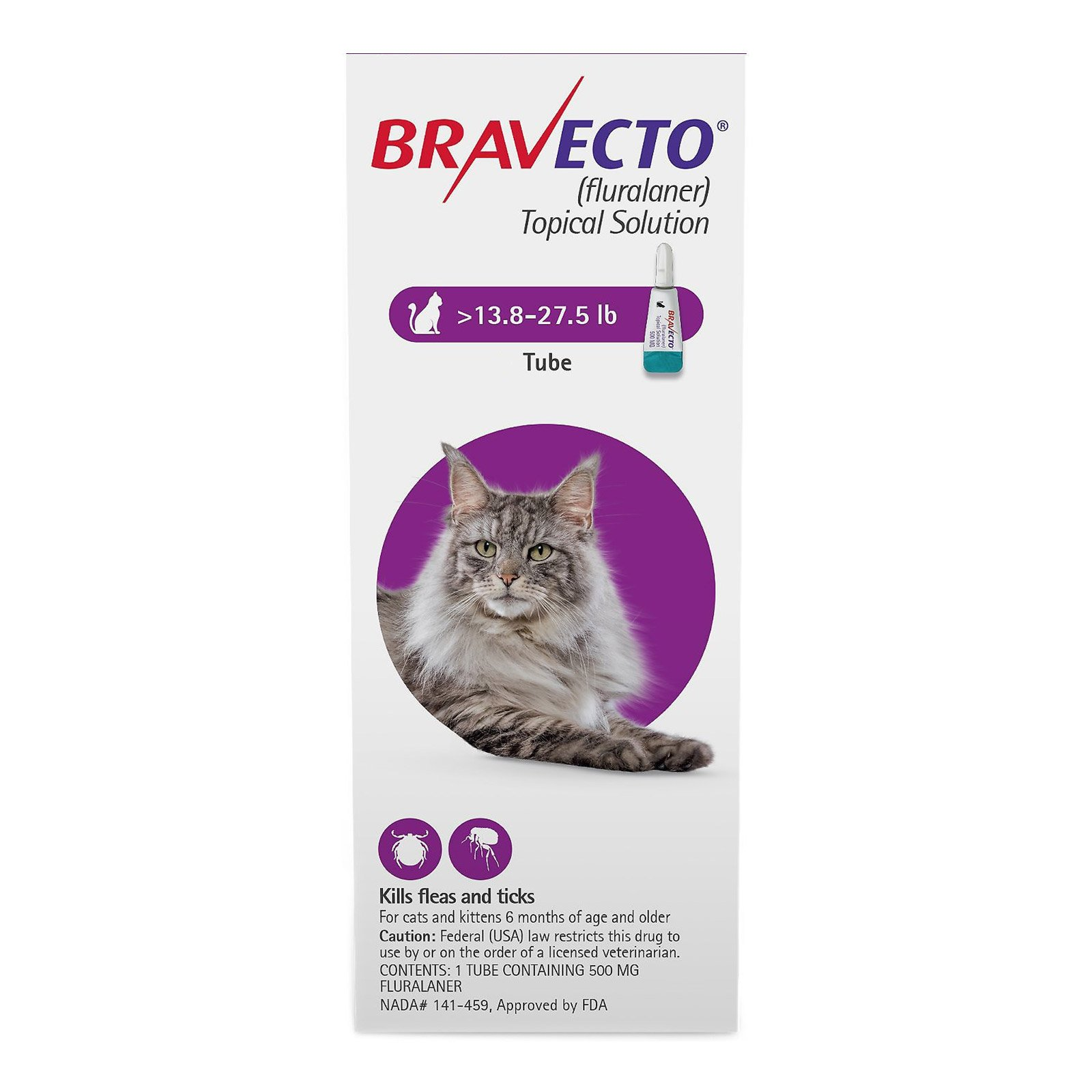 Bravecto Spot-On  for Large Cats 13.8 lbs - 27.5 lbs