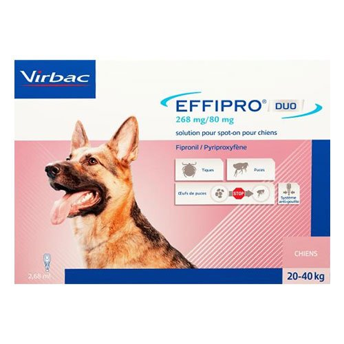 Effipro DUO Spot-On  For Large Dogs 45 to 88 lbs.