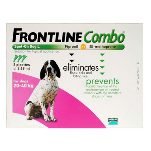 Frontline Plus (Known as Combo) for Large Dogs 45-88 lbs (Purple)