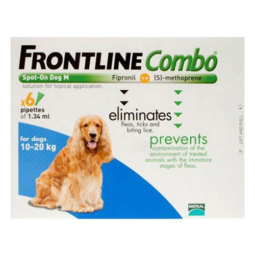 Frontline Plus (Known as Combo) for Medium Dogs 23-44 lbs (Blue)