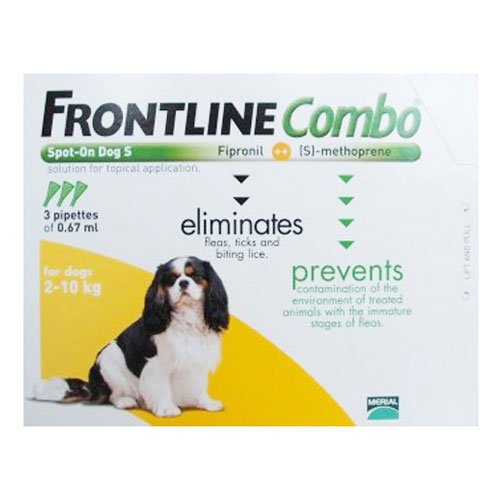 Frontline Plus (Known as Combo) for Small Dogs up to 22lbs (Orange)