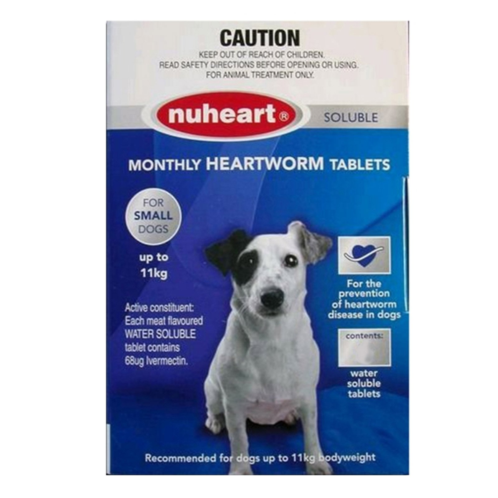 Nuheart Generic Heartgard   for  Small Dogs upto 25lbs (Blue)