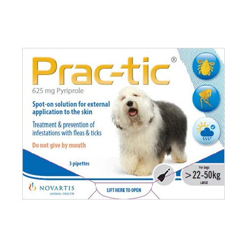 Prac-Tic Spot On for Large Dog: 50-110 lbs (White)