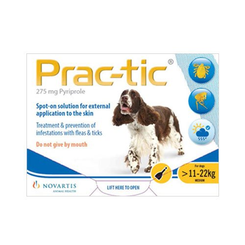 Prac-Tic Spot On for Medium Dog: 25-50 lbs (Yellow)