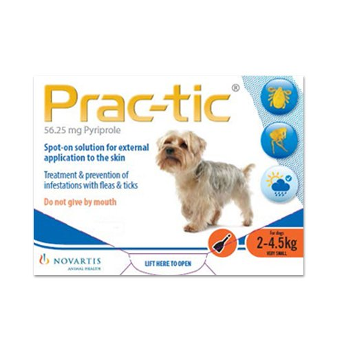 Prac-Tic Spot On for  Very Small Dog: 4.5-10 lbs (Orange)