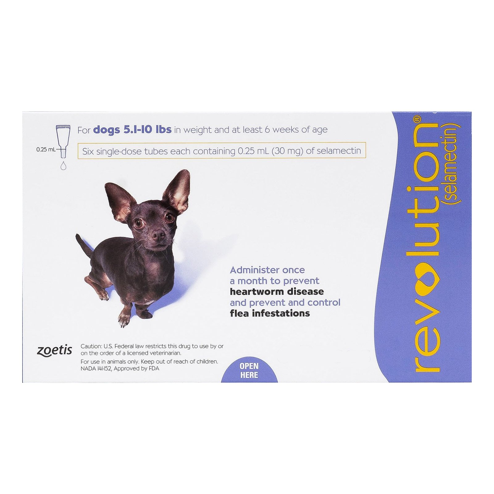 Revolution for Very Small Dogs 5.1-10 lbs (Purple)
