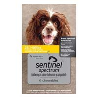Sentinel Spectrum Yellow for Dogs 25.1-50 lbs