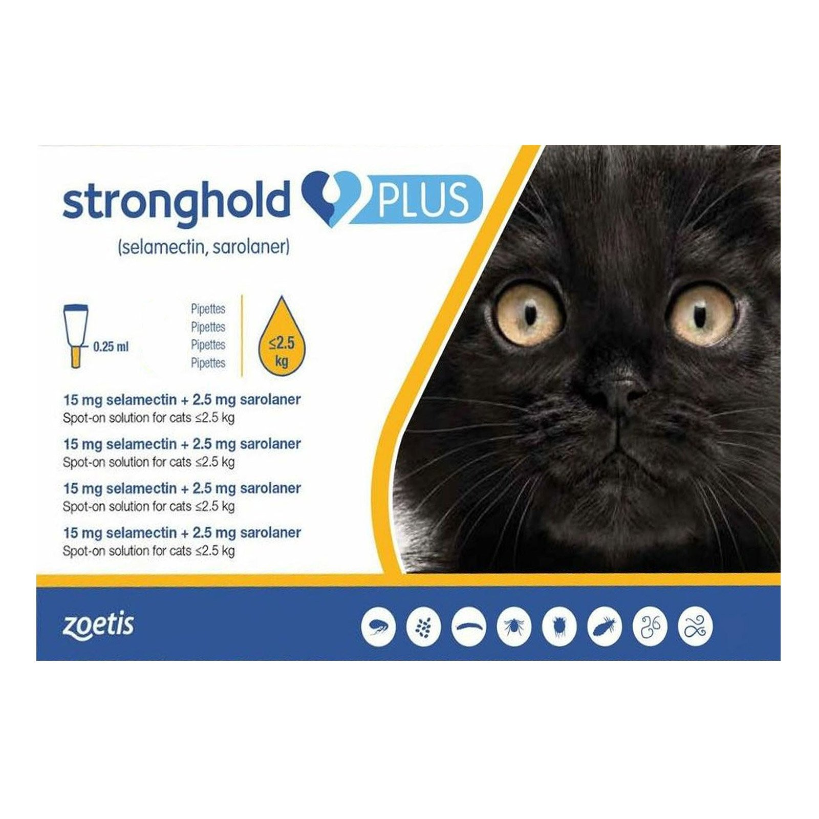 Stronghold Plus for Kittens and Small Cats upto 5.5lbs (2.5Kg)