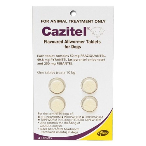 Cazitel Flavoured Allwormer for Dog Supplies