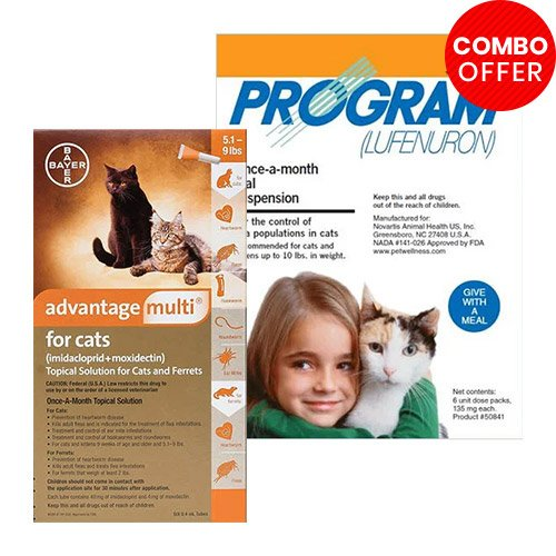 Advantage Multi & Program Oral Suspension Combo Pa for Cat Supplies