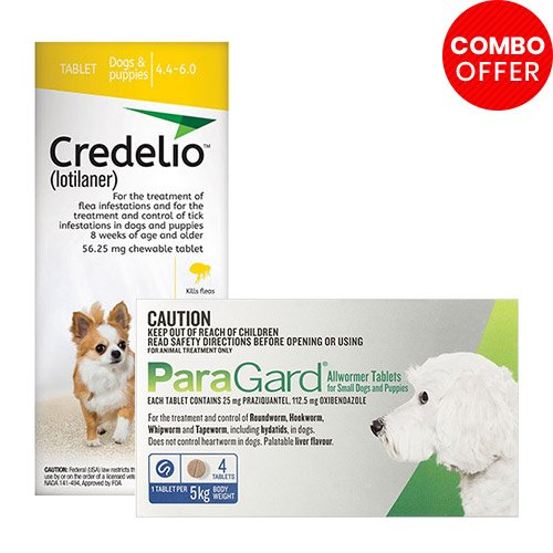 Credelio + Paragard Allwormer Combo Pack for Dog Supplies