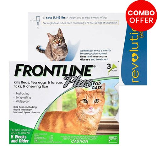 Frontline Plus & Revolution Combo Pack for Cat Supplies
