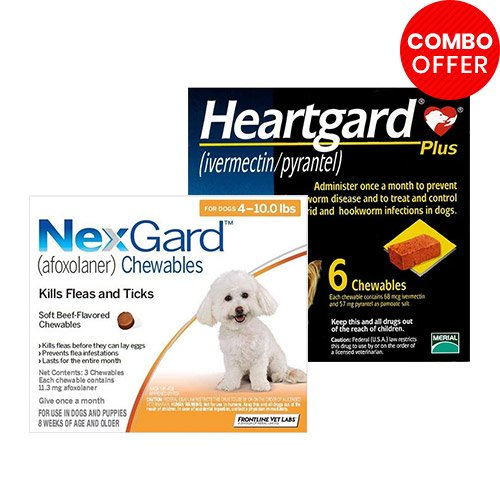 Nexgard  & Heartgard Plus Combo Pack for Dog Supplies