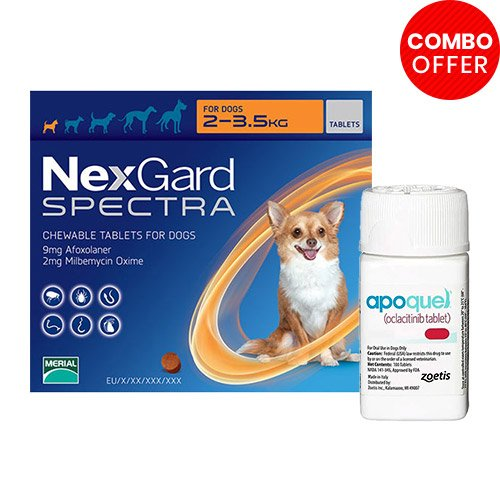 Nexgard Spectra + Apoquel Combo Pack for Dog Supplies